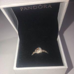 Shimmering Knot Ring
